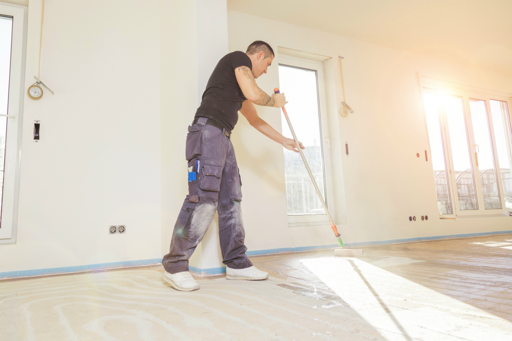 installing epoxy floor in home